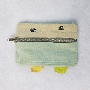 Anthropologie Zipper Mouth Coin Purse